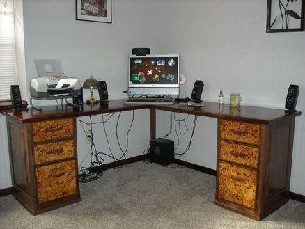 Wooden Woodworking Plans Corner Desk Diy Blueprints Woodworking