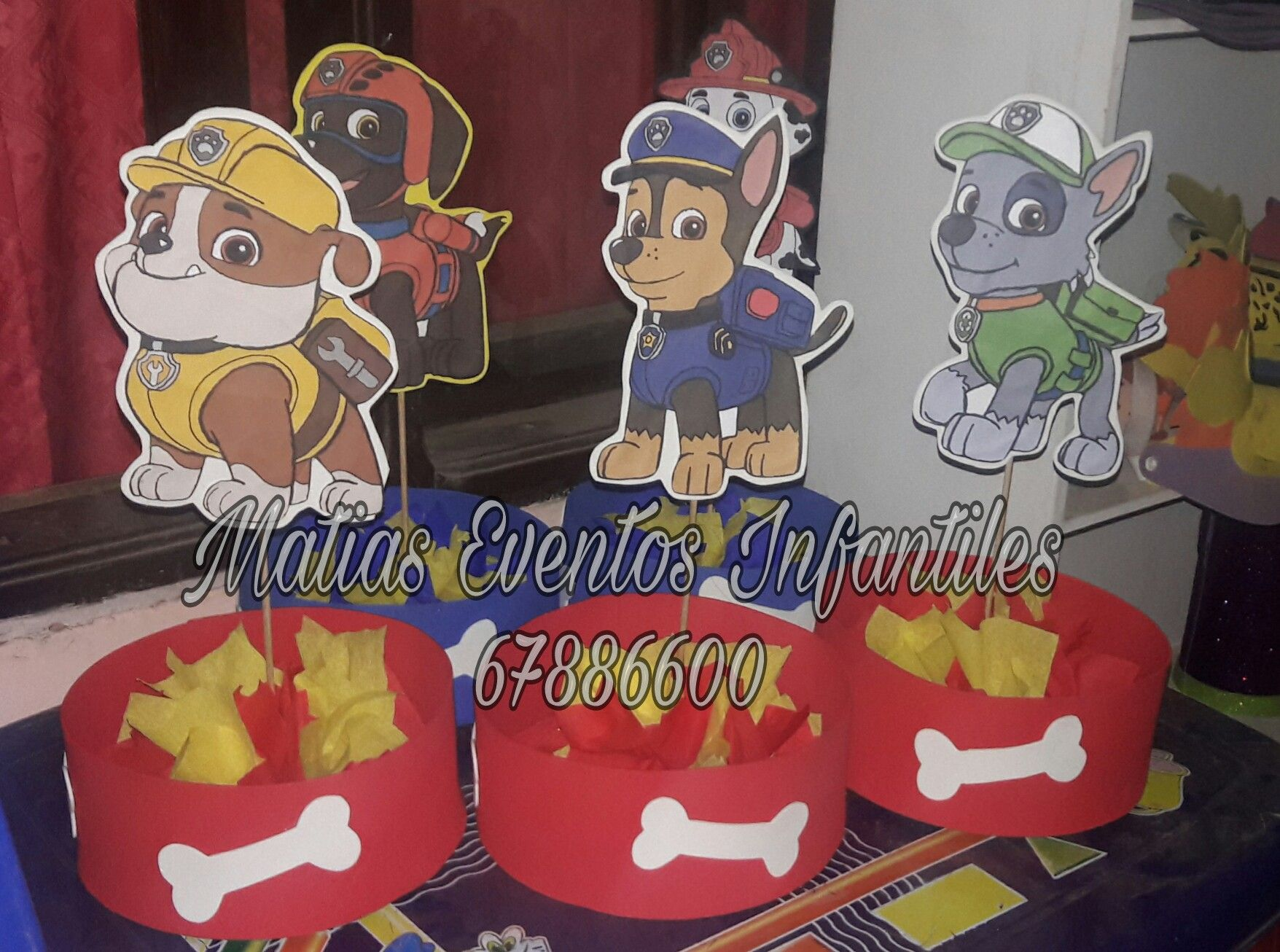 Pocoyo Amigurumi Nacións : Centros de mesas paw patrol matias eventos infantiles pinterest