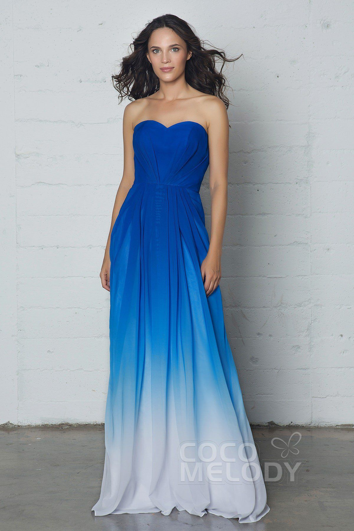 Charming sweetheart natural floor length ombre chiffon sleeveless charming sweetheart natural floor length chiffon sleeveless bridesmaid dress pleating lozf15045 ombrellifo Image collections
