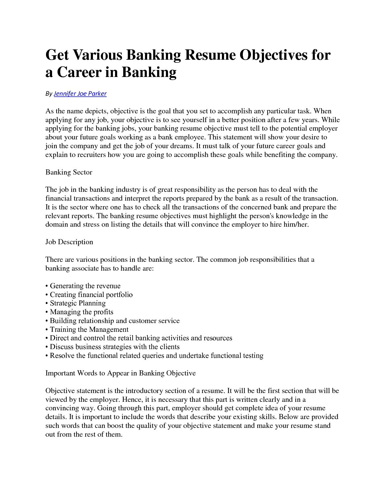 71 Beautiful Collection Of Sample Resume for Bank Teller