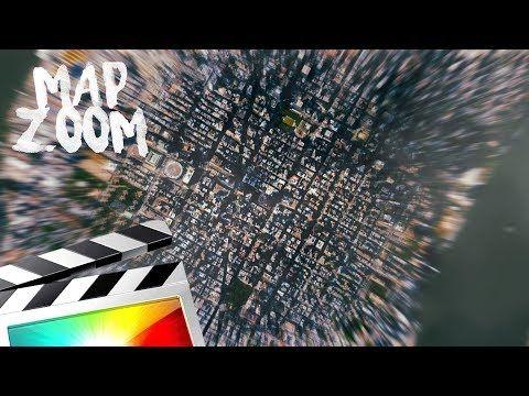94) MAP ZOOM EFFECT - FINAL CUT PRO X - YouTube | teacher