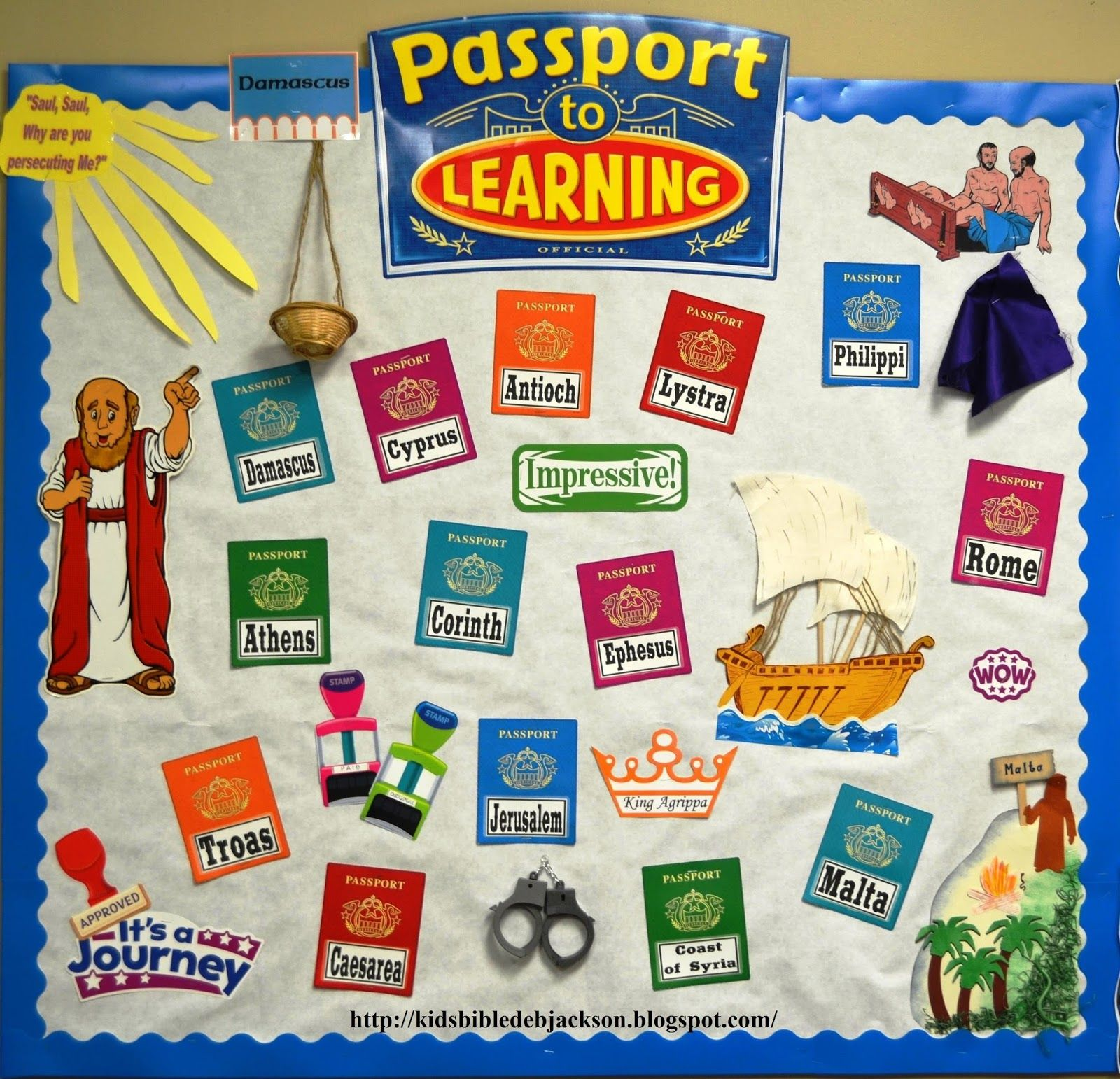 Passport To Learning In The Book Of Acts Bulletin Baord