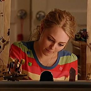 Carrie's rainbow striped top on The Carrie Diaries