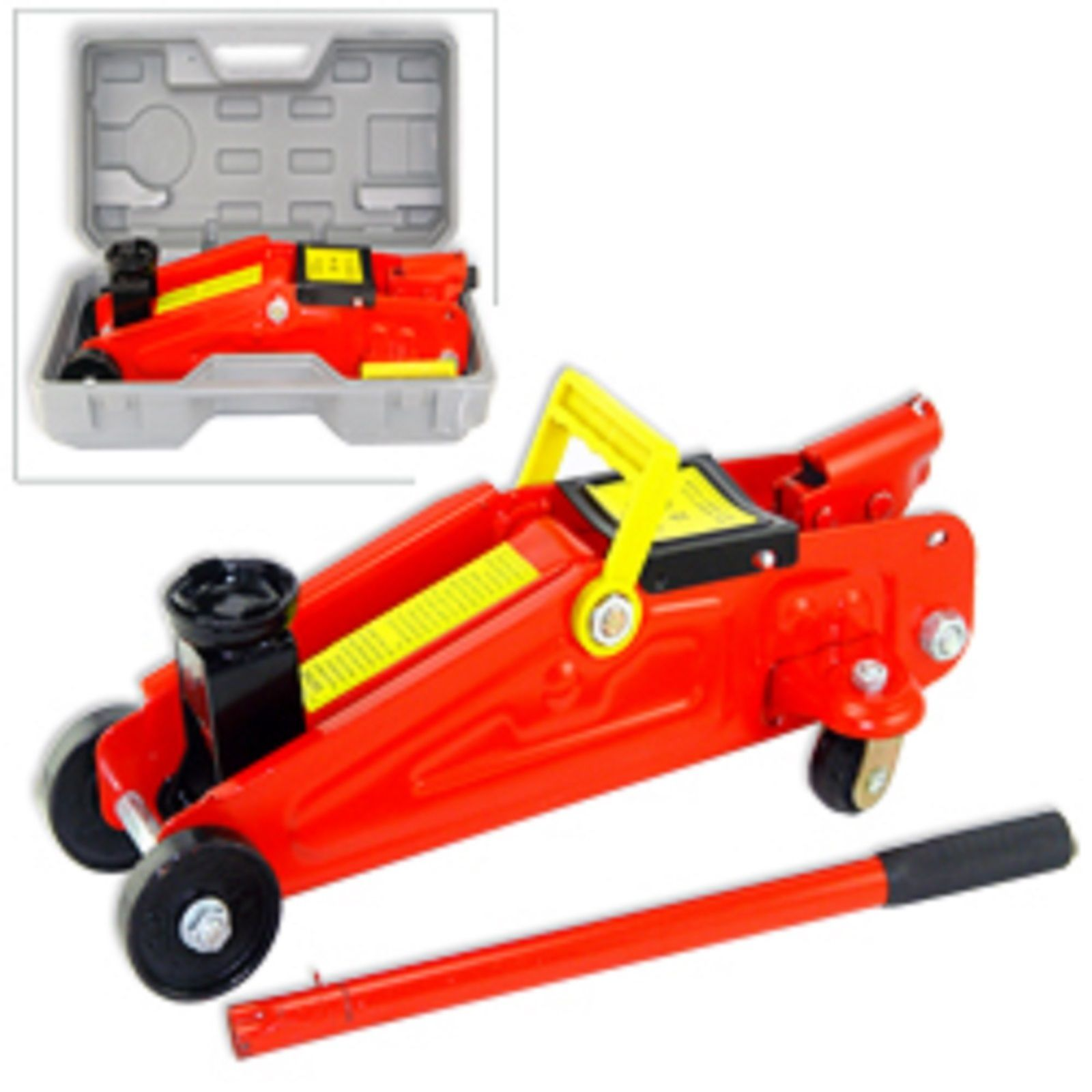 Brand 2 Ton Mini Floor Jack In A Blow Mold Case For