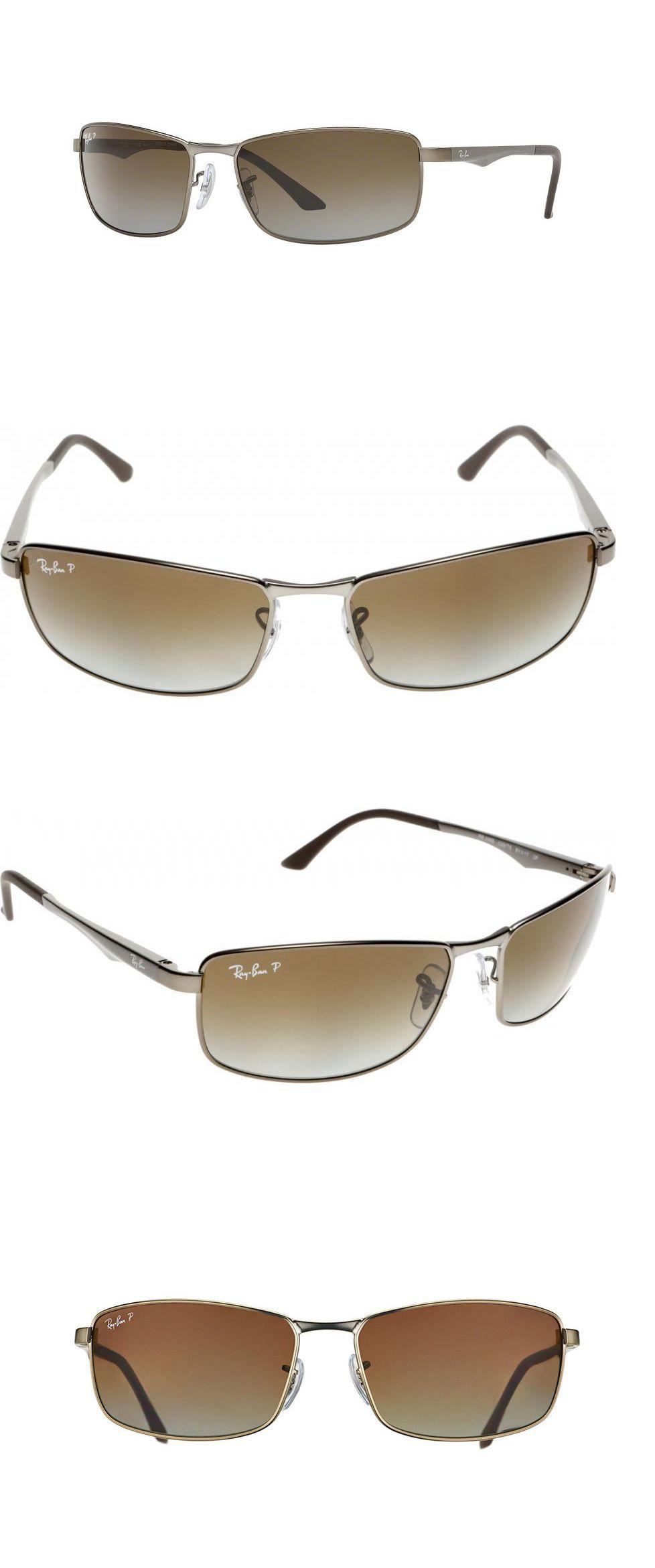78920f5090 Sunglasses 155189  Ray-Ban Rb3498 029 T5 Gunmetal Frame Polarized Brown  61Mm Lens Sunglasses
