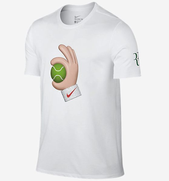 RECOGNIZE THE GAME The NikeCourt RF Emoji Ball Men's T-Shirt features a  tennis-inspired graphic on soft, durable cotton. Product Details Rib crew  neck with ...