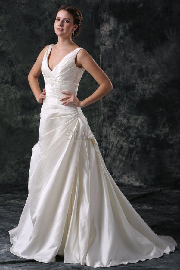 Prinzessin A-Line Kirche ärmelloses Brautkleid mit Applike mit ...