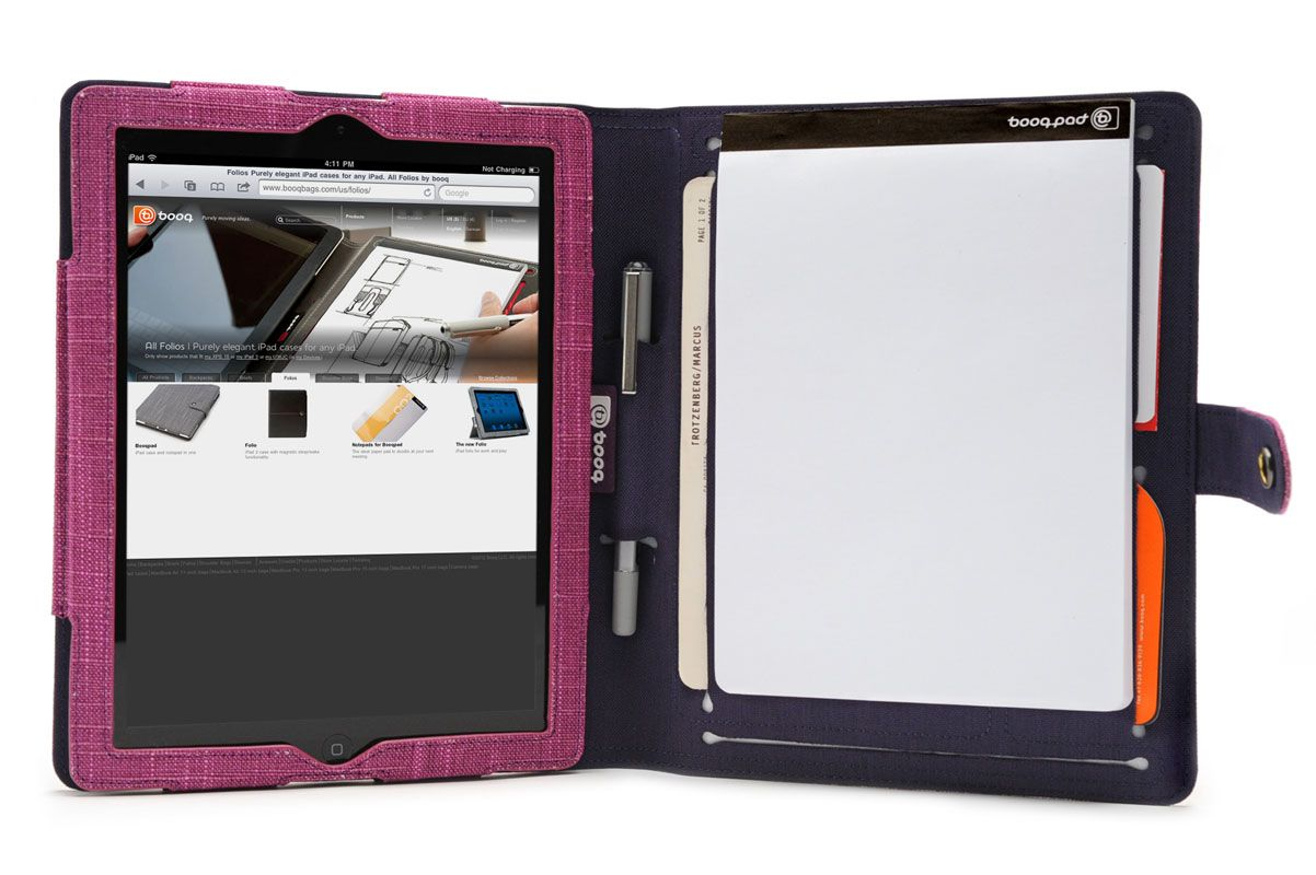 Booqpad, purple-plum   iPad agenda by booq
