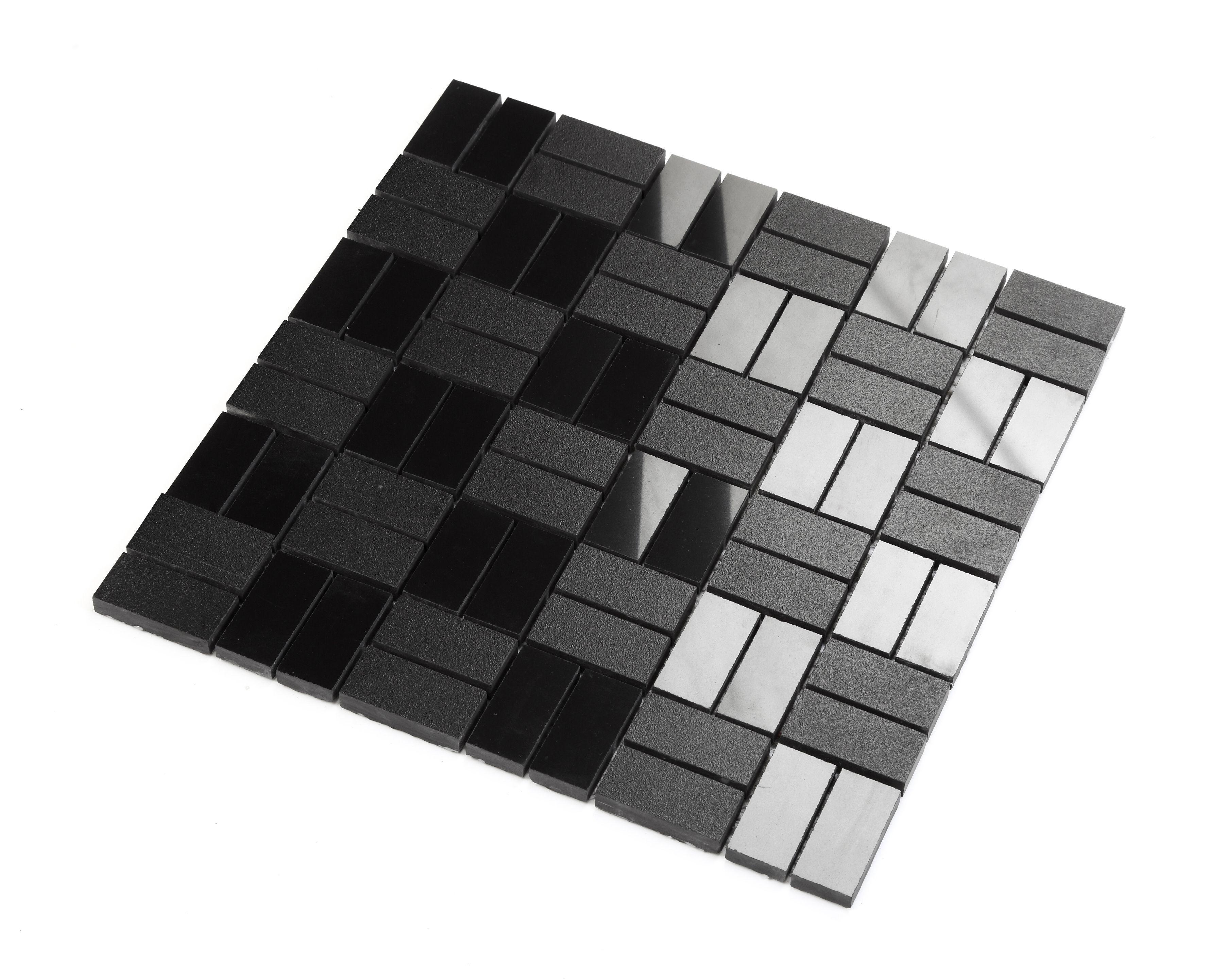 Carrelage Mosaique En Ceramique Noire Mur Et Sol Mp Vitti