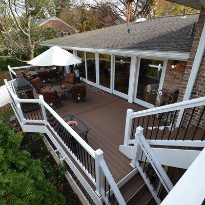 Multi Level Deck Picture 1779 Multi Level Deck Building A Deck Vinyl Deck Railing