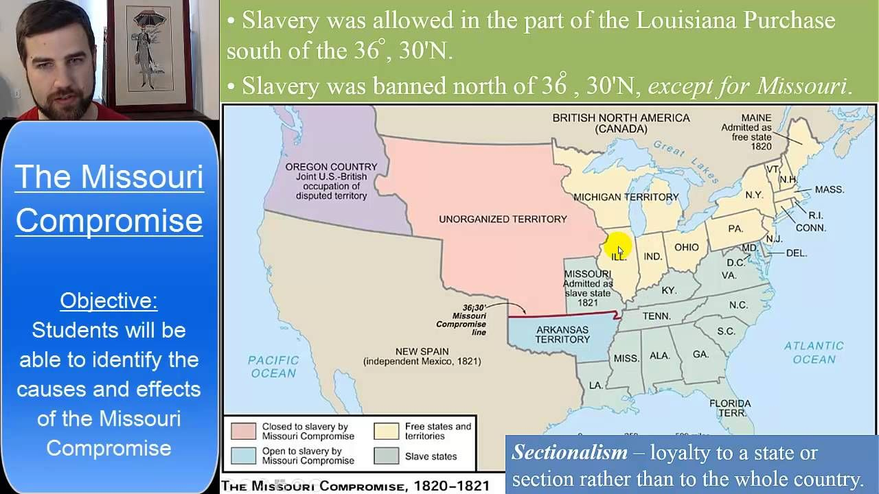 The Missouri Compromise And The Compromise Of 1850 Missouri Compromise Missouri History Lessons
