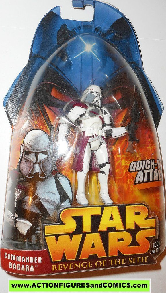 star wars action figures CLONE TROOPER COMMANDER BACARA 2005 revenge of the sith moc