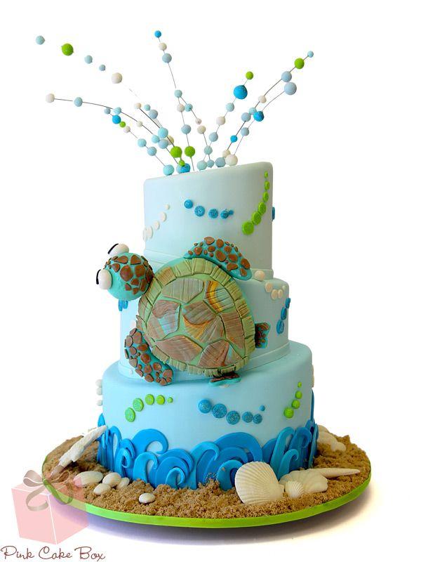Sea Turtle Bat Mitzvah Cake Bat Mitzvah Cakes Cake Custom Cake
