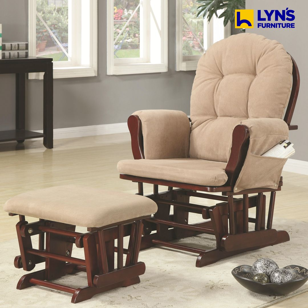 Glider wottoman glider and ottoman recliner with