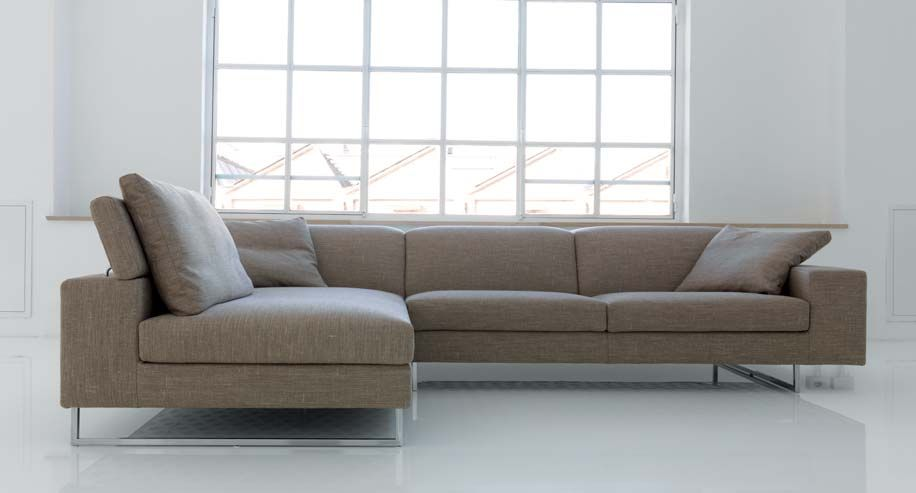 modern sectional sofa with metal feet