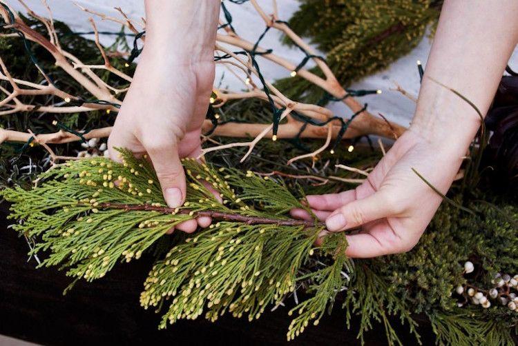 Blumenkasten Weihnachtlich Dekorieren blumenkasten weihnachtlich dekorieren wintergrün zweige zypresse
