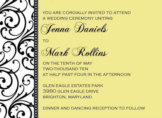 Wedding Card Invitation Messages: Modern Wedding Invitation Wording Examples