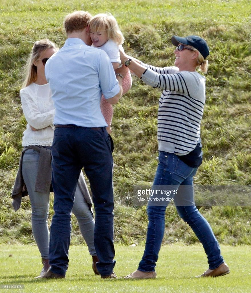 Prince Harry, And Zara Phillips Play With Mia Tindall As