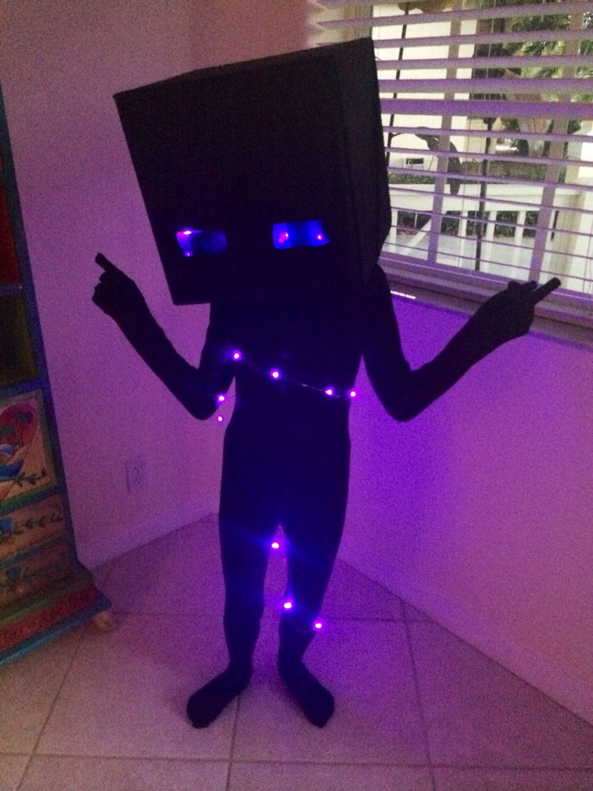 Jacks Minecraft Enderman Costume Halloween Pinterest Halloween