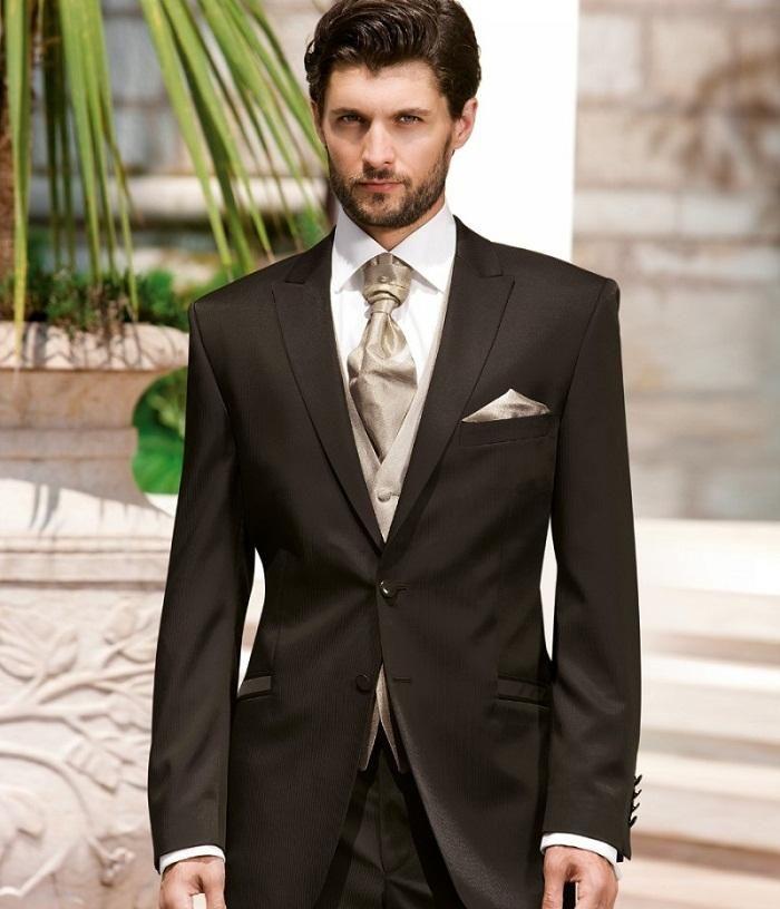 Cheap Wholesale 2016 Italian Mens Suits Grey Wedding Tuxedos ...