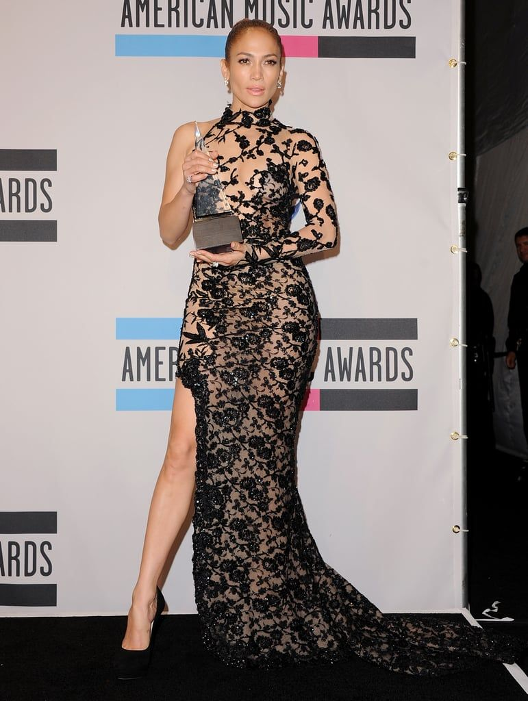 Jennifer Lopez Wore Two Naked Dresses to the Billboard