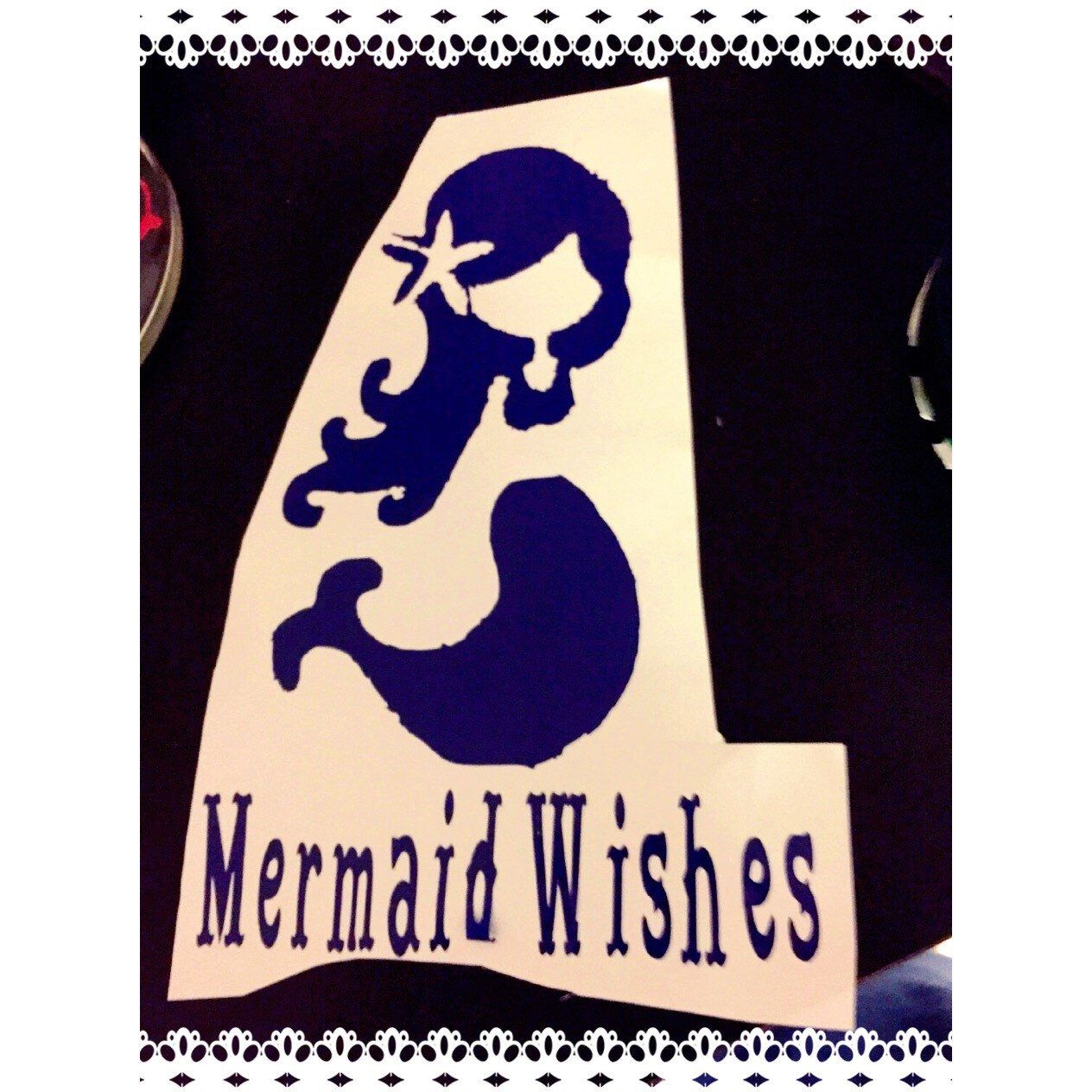 A personal favorite from my Etsy shop https://www.etsy.com/listing/249372936/mermaid-decal-coffee-cup-decal-canvas