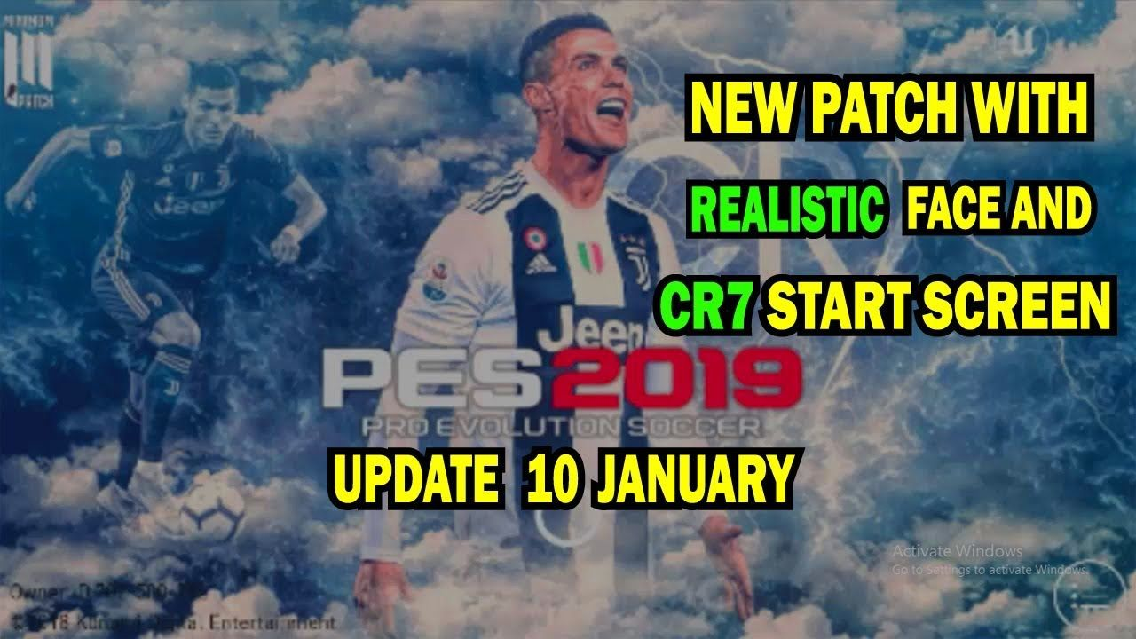 PES 2019 MOBILE updated PATCH 10 JAN || Realistic face with start