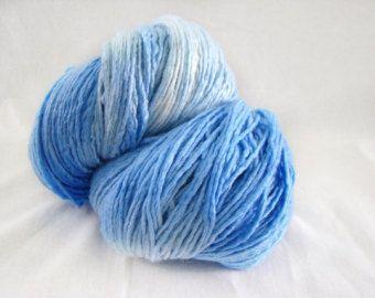 Jumbo Skein, Heavy Worsted, Sky Blue Wool, Hand Dyed Yarn, Hand Dyed Wool, Sky Blue Yarn, Indie Dyed Wool, Merino Silk Yarn, Merino Blend