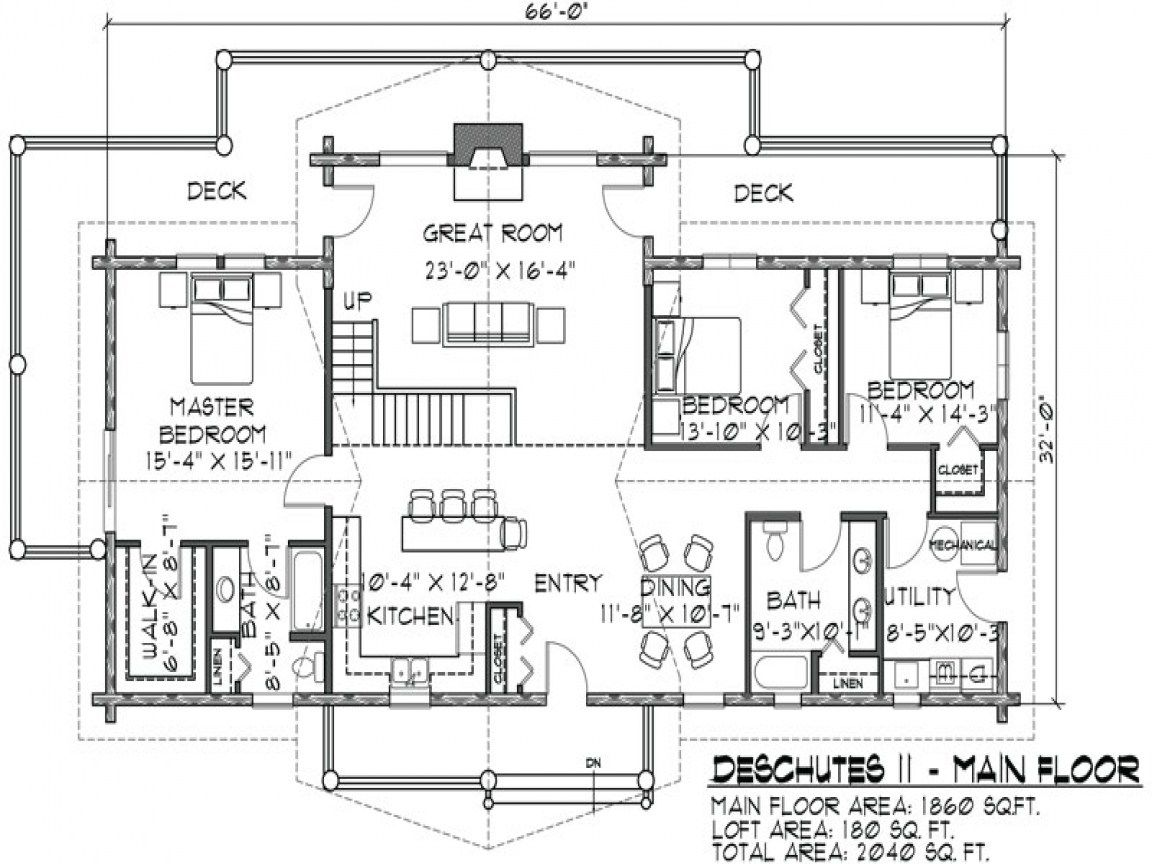 story log cabin floor plans story log home plans lrg floor plan log ...