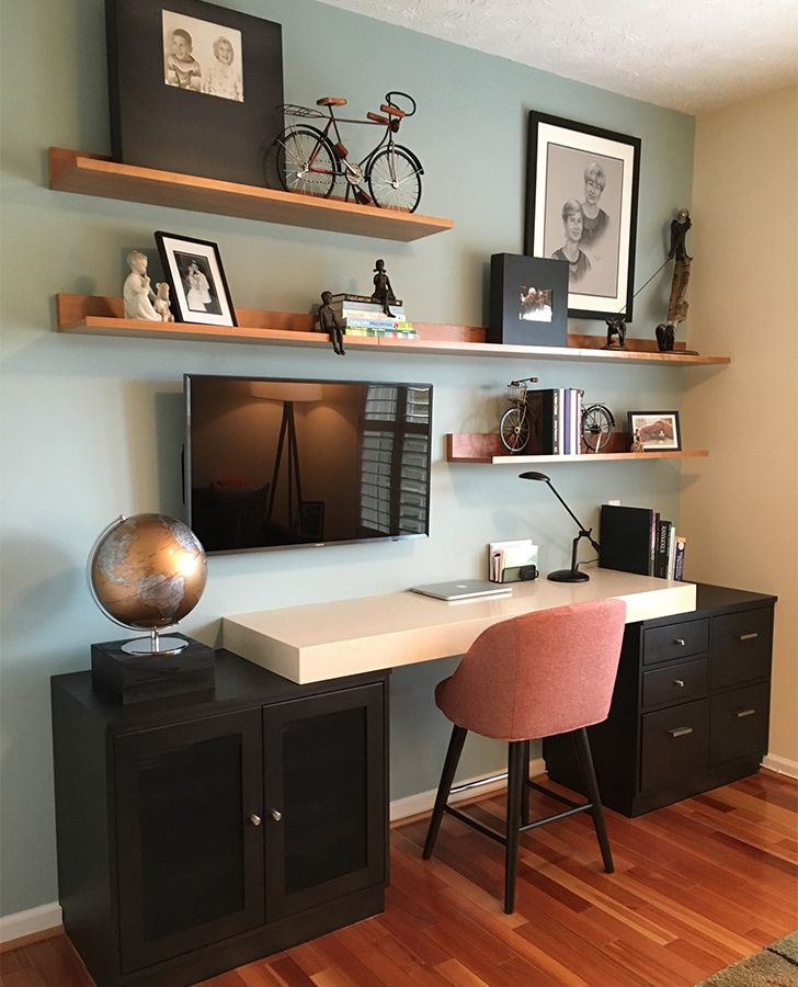 Wall Decor And Style Inspiration Home Office Shelves Guest Room
