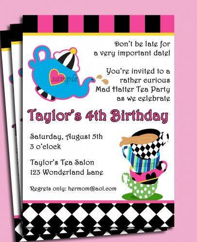 Mad Hatter Tea Party Invitation Printable - Alice in Wonderland | ThatPartyChick - Digital Art  on ArtFire