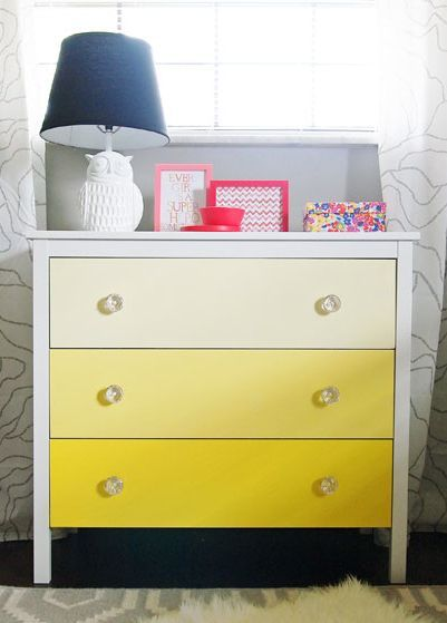 Diy Ombre Chest Transformation Goruntuler Ile Hemnes Sifonyer Ikea