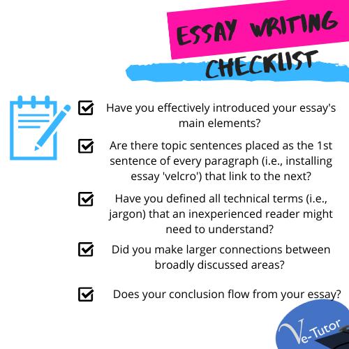 Tip Advice For Academic Writing Essay University Checklist Idea Technique On Pride