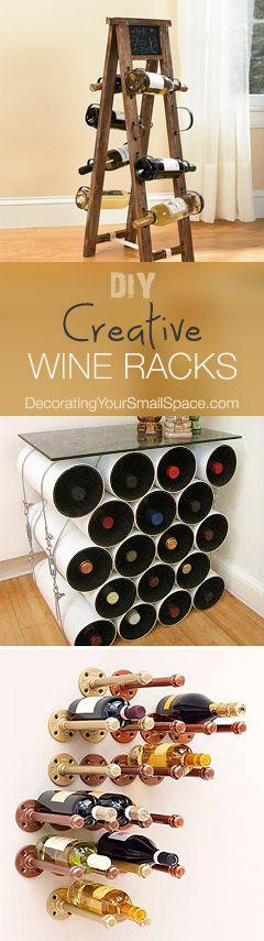 DIY Wine Racks Wein, Wein deko und Dekorative flaschen - küche dekorieren ideen