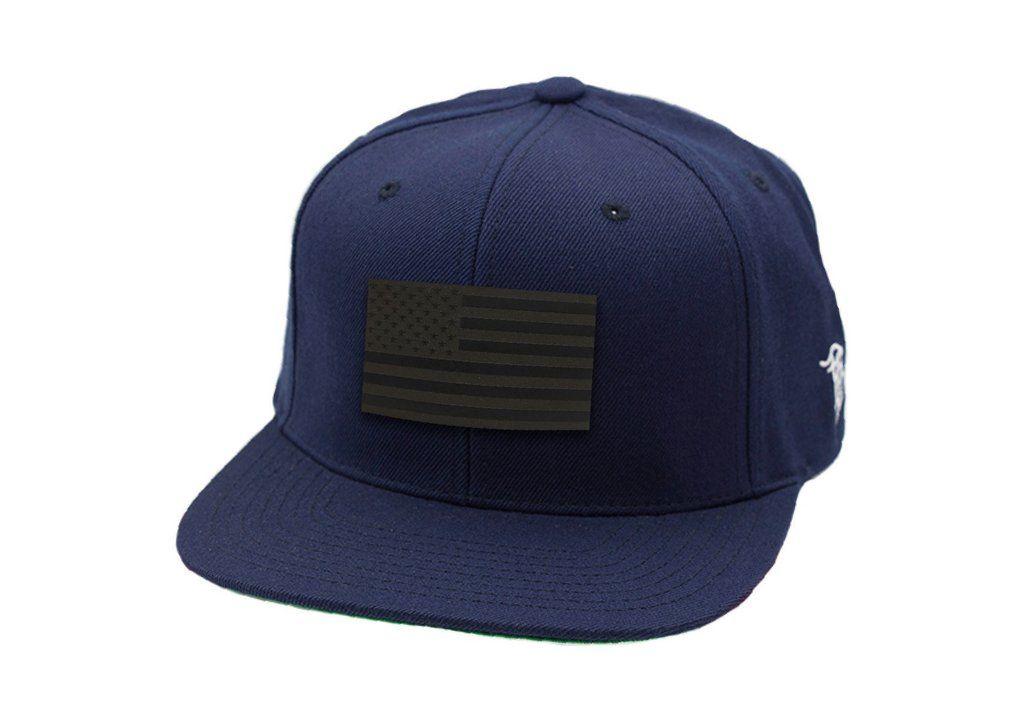 9dc9514864a Midnight Glory - Snapback Hat - USA Black Leather Patch - Branded Bills