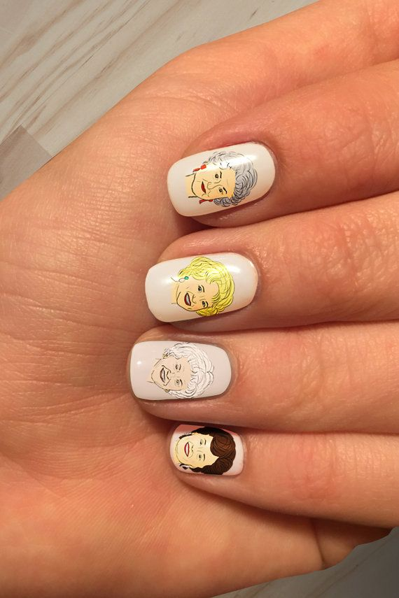 Stay Golden Handpinted Golden Girls Nail Art Decals! Super easy to ...