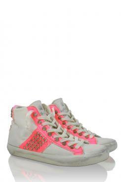 Sneakers Garance | neon roze - www.littlesoho.com