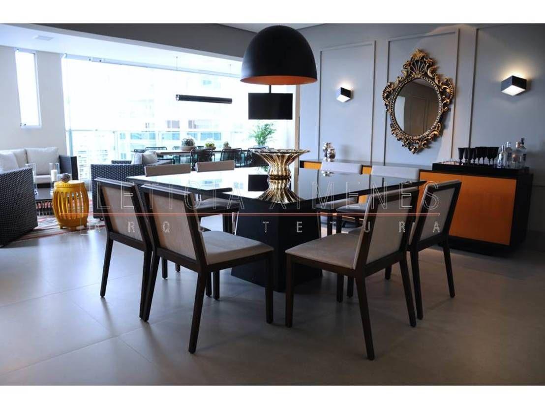 10 mesas de jantar elegantes lustre preto mesa preta e - Mesas de sala modernas ...