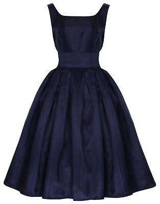 Blue 1950s Vintage Inspired Dress - so cute. I wish we could still dress up like this.