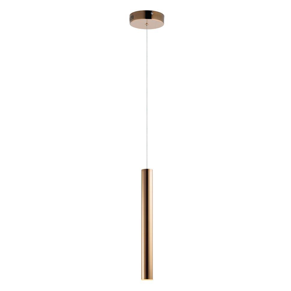 Et2 Lighting E10011 Rg Flute Rose Gold Led Mini Pendant In