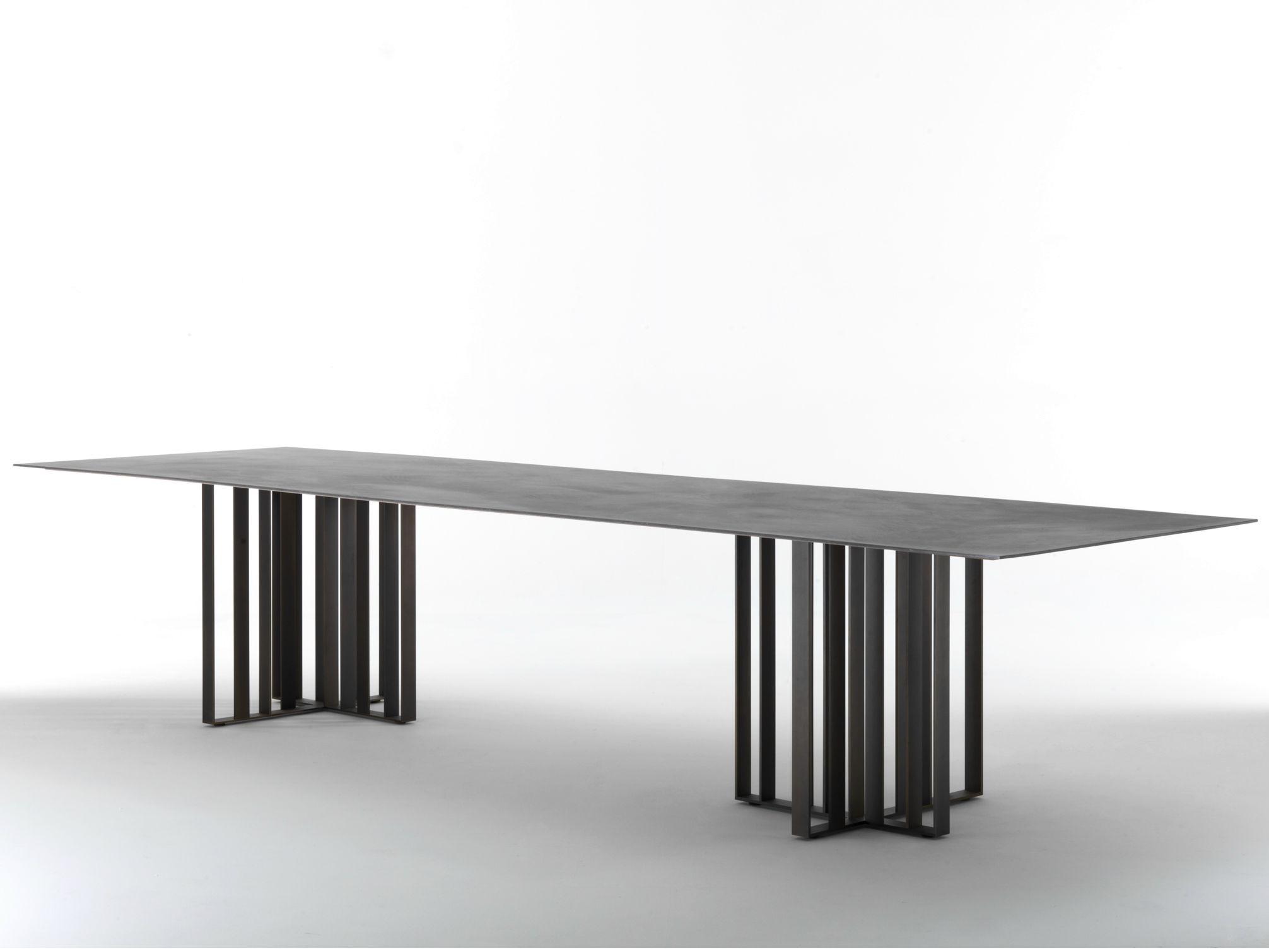 Rectangular Metal Dining Table Shade By Lema Design Francesco