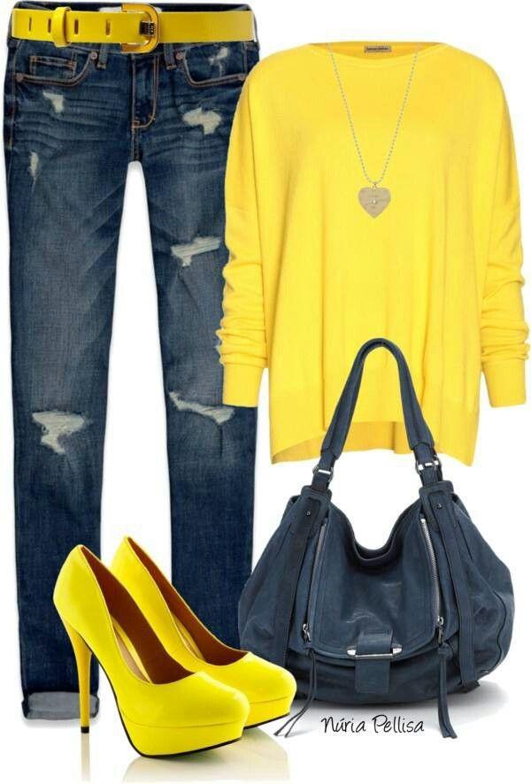 Yellow Shirt & Jeans