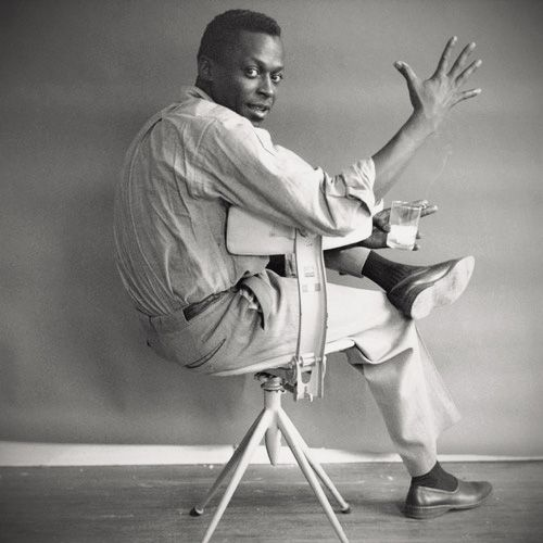 miles davis is just cool, the drink, the cig, and the whole bit