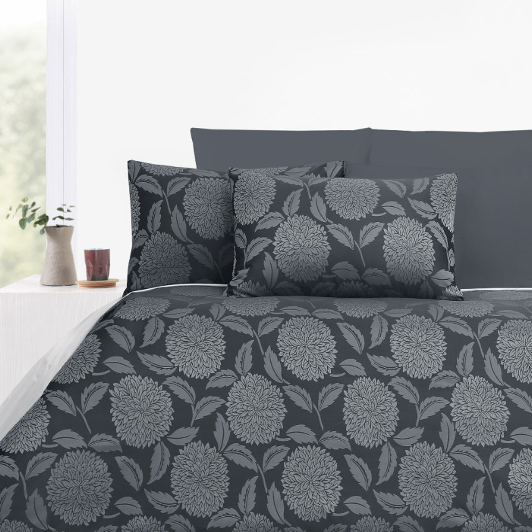 300TC Armure Grey Jacquard Quilt Cover Set by Accessorize | Quilt ... : jacquard quilt - Adamdwight.com