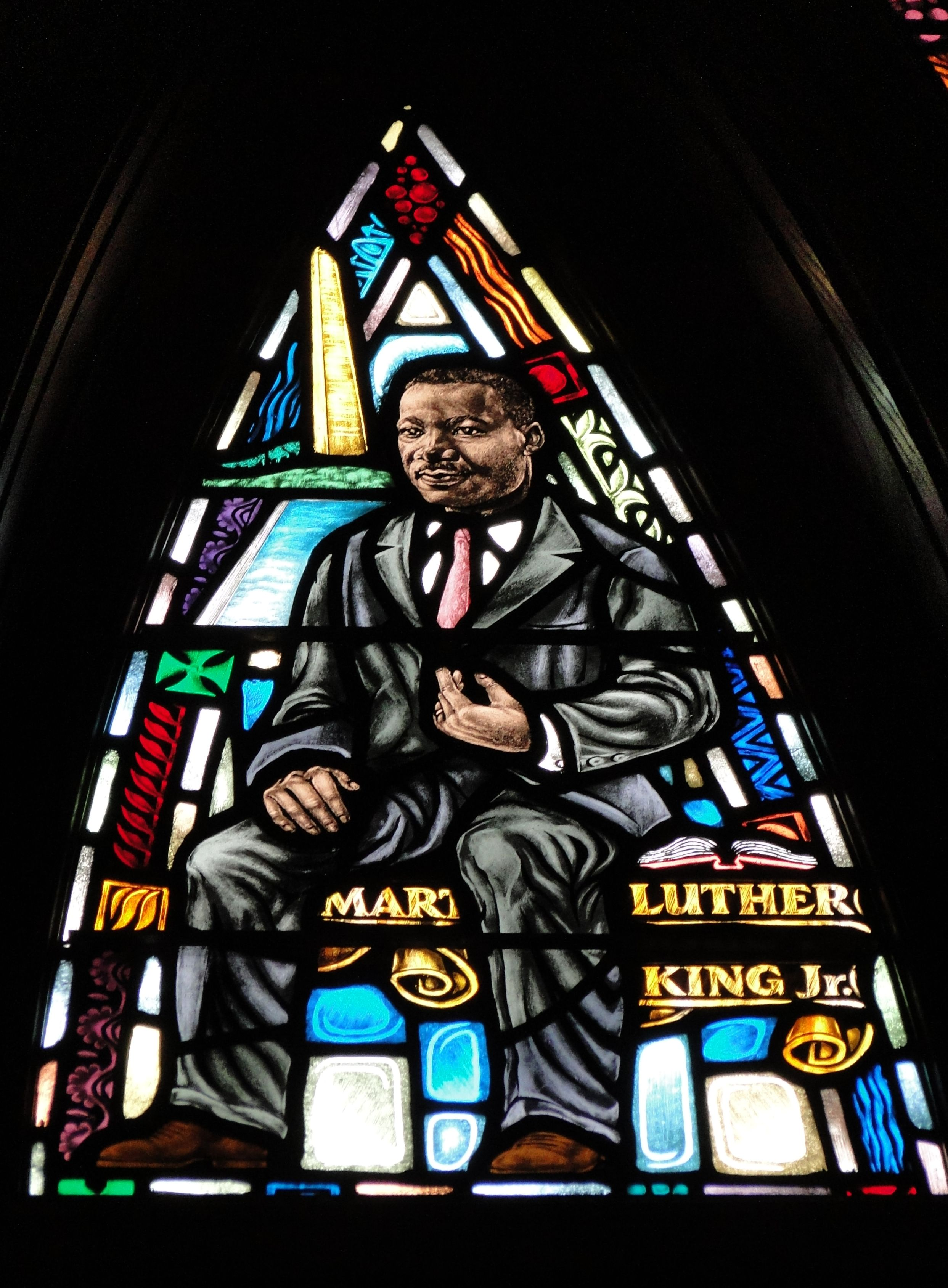 Rev Dr Martin Luther King Jr In Stained Glass All
