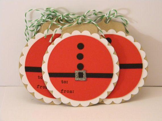 Santa Gift Tags on Kraft by hannahmize on Etsy