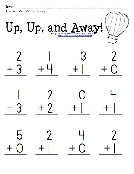 Kinder-Craze: A Kindergarten Blog: addition | Kindergarten ...