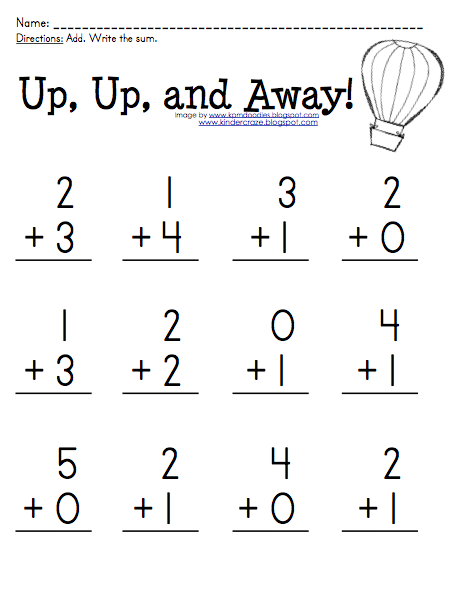 Free Addition Practice For Sums 0 5 At Kinder Craze Kindergarten Addition Worksheets Math Addition Worksheets Kindergarten Math Worksheets Addition