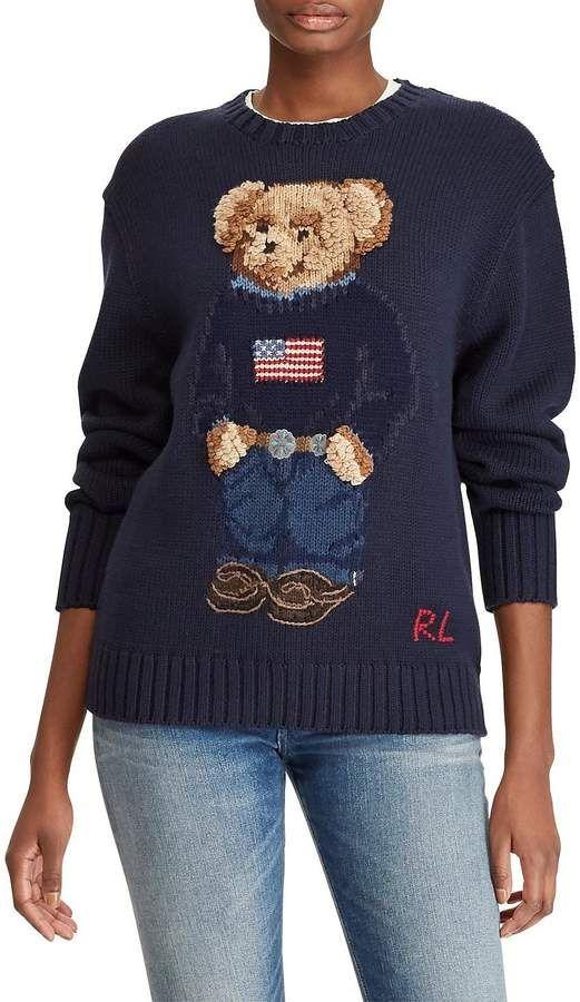 useita värejä halvat hinnat tukkukauppa Polo Ralph Lauren Polo Bear Cotton Crew Neck Sweater #Lauren ...