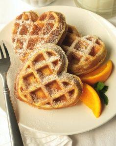 Orange Waffles (low-fat, made with OJ)